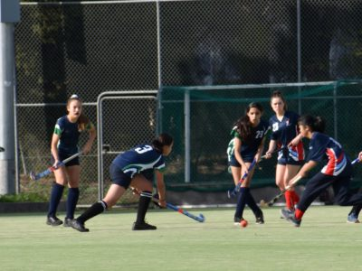 Junior Girls Hockey Action.10